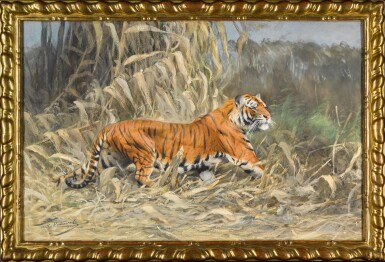 View 2. Thumbnail of Lot 147. Im Dschungel (Tiger).