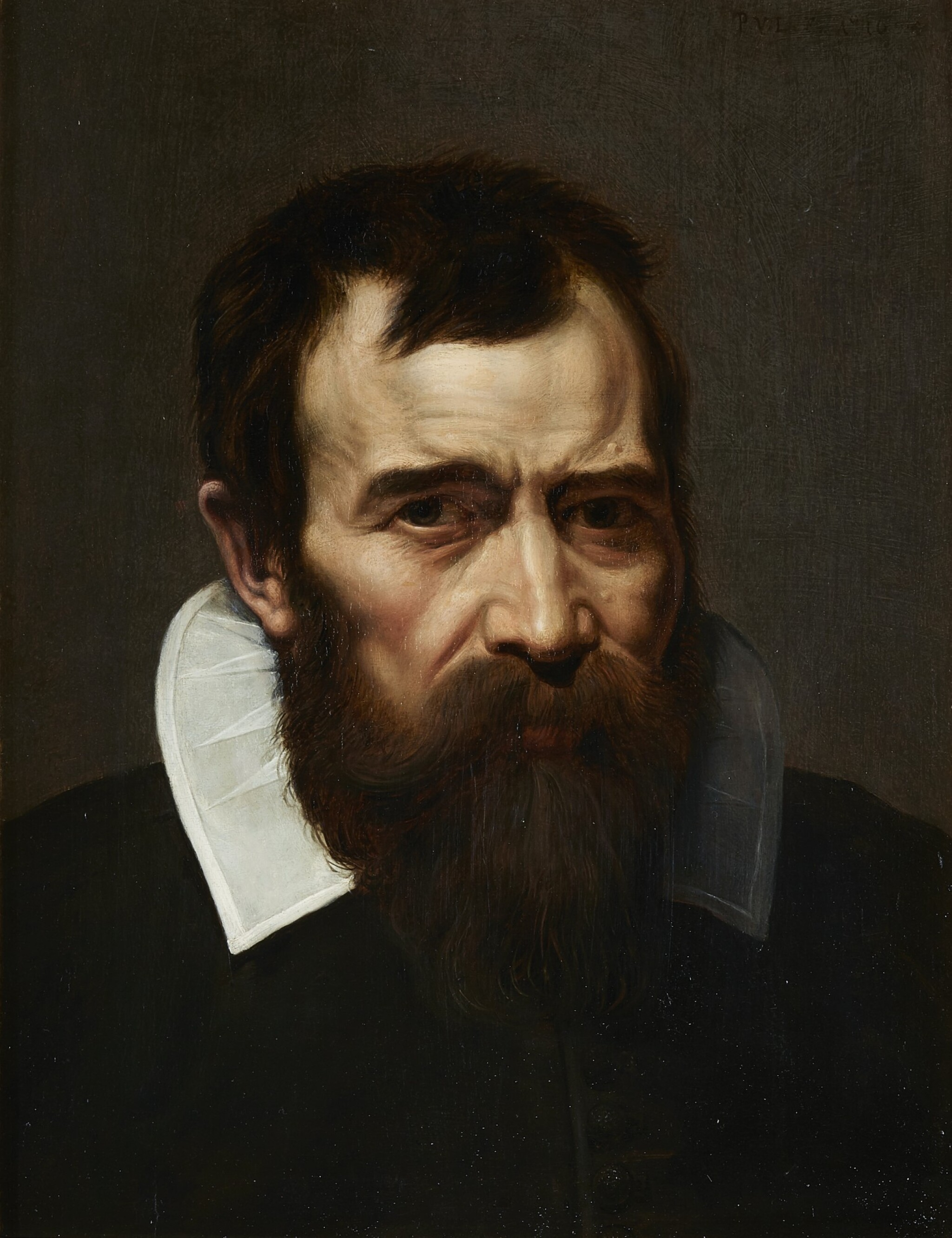 View full screen - View 1 of Lot 237. PIETER VAN LINT | PORTRAIT OF A BEARDED MAN, BUST-LENGTH, IN BLACK WITH A WHITE COLLAR.
