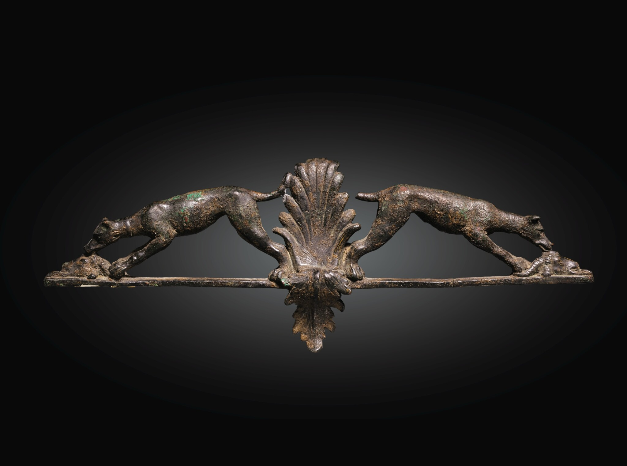 View full screen - View 1 of Lot 17. A HELLENISTIC BRONZE APPLIQUE, 2ND/1ST CENTURY B.C..