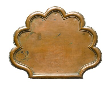 View 6. Thumbnail of Lot 141. An unusual William and Mary green japanned copper tripod table, late 17th century.