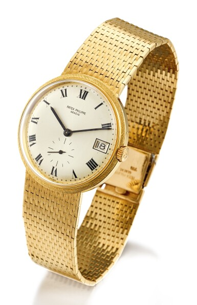 PATEK PHILIPPE | REF 3445/6 YELLOW GOLD BRACELET WATCH WITH DATE MADE IN 1968