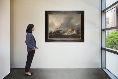 View 4. Thumbnail of Lot 213. AERNOUT SMIT | SHIPS IN DISTRESS OFF A ROCKY COAST.