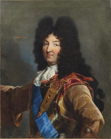 View 1. Thumbnail of Lot 158. Portrait of Louis XIV (1638-1715).