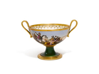 A SÈVRES TWO-HANDLED CUP, 1812