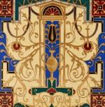 A LATE 19TH CENTURY, GILT-BRONZE AND ENAMELLED, JARDINIÈRE, BY FERDINAND BARBEDIENNE    JARDINIÈRE EN BRONZE DORÉ ET ÉMAUX, PAR FERDINAND BARBEDIENNE, FIN DU XIXE SIÈCLE