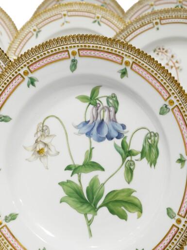 View 4. Thumbnail of Lot 89. A Set of Twelve Royal Copenhagen 'Flora Danica' Dinner Plates, Modern.