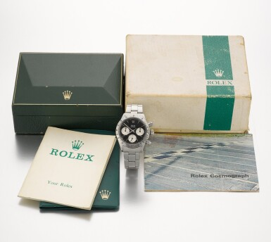 View 4. Thumbnail of Lot 370. ROLEX   REFERENCE 6265 DAYTONA, A STAINLESS STEEL CHRONOGRAPH WRISTWATCH WITH REGISTERS AND BRACELET, CIRCA 1972.
