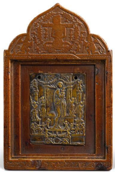 NORTHERN ITALIAN, PROBABLY PADUA, CIRCA 1450-1480   PLAQUETTE WITH THE VIRGIN AND CHILD SURROUNDED BY ANGELS