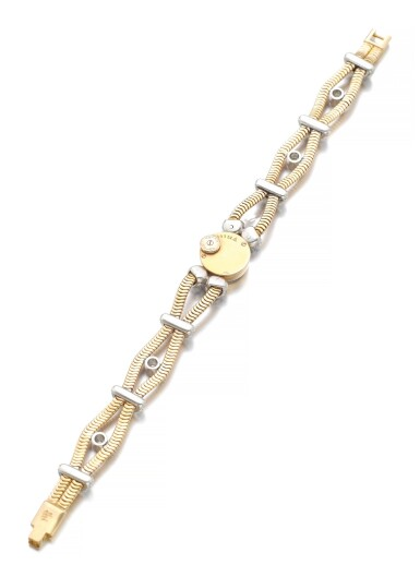 LADY'S GOLD AND DIAMOND WRISTWATCH | JAEGER LECOULTRE