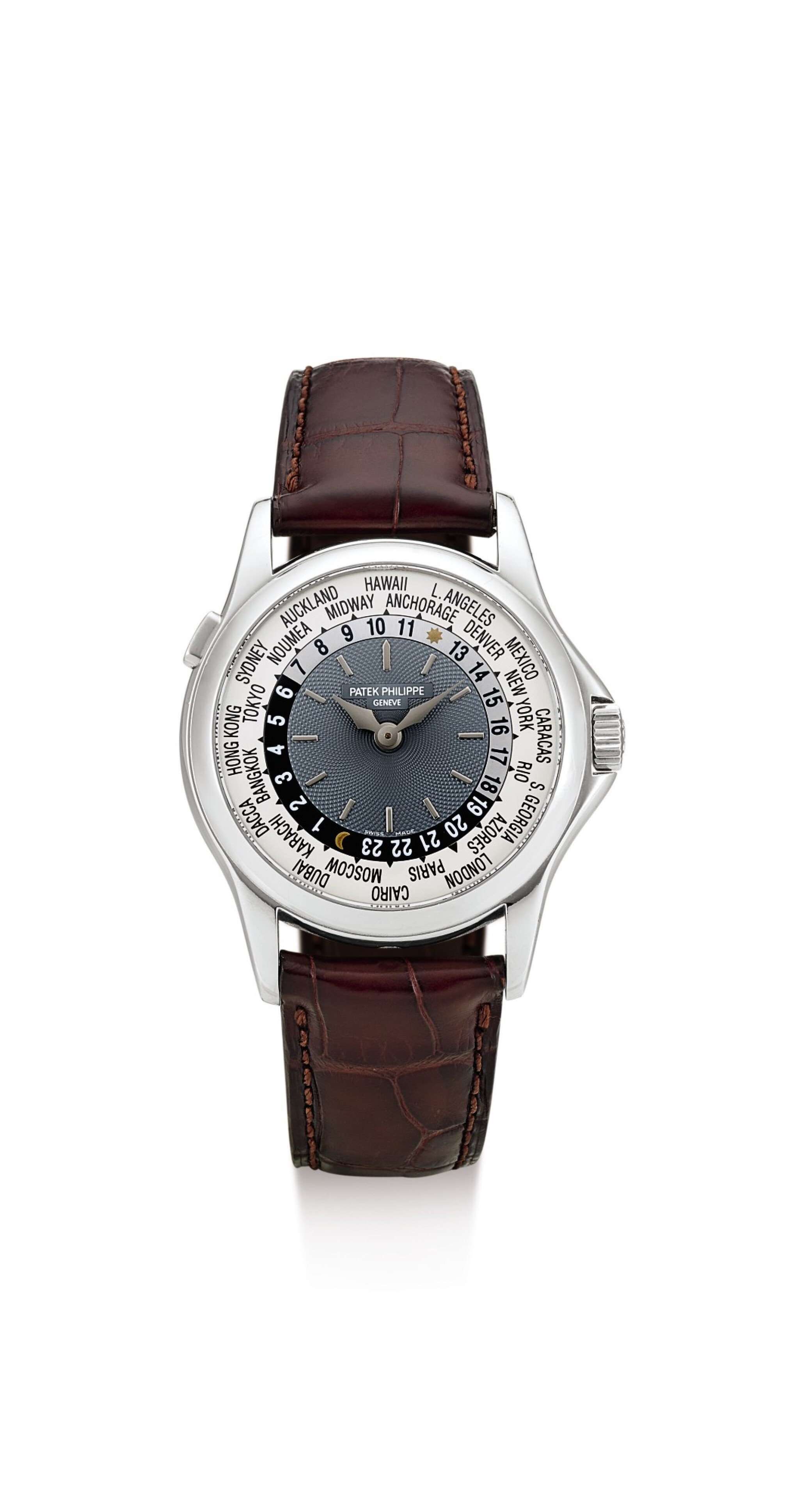 View 1 of Lot 31. PATEK PHILIPPE | REFERENCE 5110, A PLATINUM WORLDTIME WRISTWATCH, MADE IN 2004.