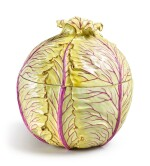 A THURINGIAN YELLOW CABBAGE TUREEN AND COVER, 19TH CENTURY