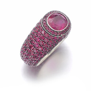 View 2. Thumbnail of Lot 307. HEMMERLE   RUBY RING.