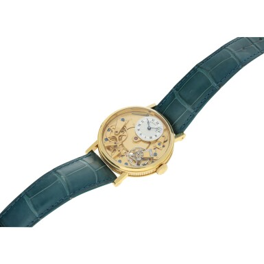 View 6. Thumbnail of Lot 88. REFERENCE 7027 LA TRADITION A YELLOW GOLD SEMI-SKELETONIZED WRISTWATCH WITH POWER RESERVE INDICATION, CIRCA 2005.