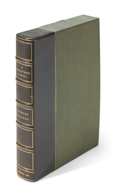 Dickens, A Christmas Carol, 1843, first edition, red and blue title-page, green endpapers, Stave I