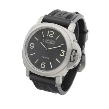 View 2. Thumbnail of Lot 8159. Luminor, Reference PAM562   A titanium wristwatch, Circa 2017   沛納海   Luminor 型號PAM562   鈦金屬腕錶,約2017年製.