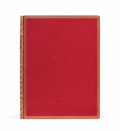 View 2. Thumbnail of Lot 8. QUIROS. Relation ... von dem new erfundnem vierten theil der Welt... Augsbourg, 1611. In-4. Maroquin rouge de Lortic..