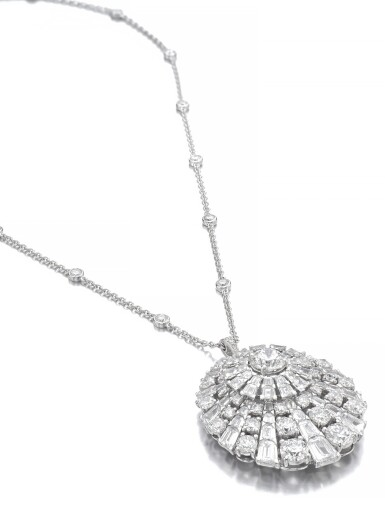 View 2. Thumbnail of Lot 645. Graff | Diamond pendent necklace | 格拉夫 | 鑽石吊墜項鏈.