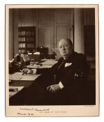 CHURCHILL | photographic portrait signed, 1941