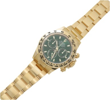 View 6. Thumbnail of Lot 15. ROLEX | REFERENCE 116508 DAYTONA   A YELLOW GOLD AUTOMATIC CHRONOGRAPH WRISTWATCH WITH BRACELET, CIRCA 2019.