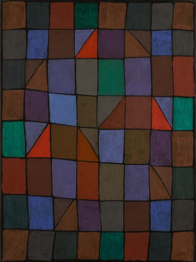 View 1. Thumbnail of Lot 10. PAUL KLEE | ABEND IN N (EVENING IN N) OR ARCHITEKTUR ABENDS (ARCHITECTURE IN THE EVENING).