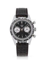 HEUER | 'MARIO ANDRETTI' AUTAVIA, REF 3646  STAINLESS STEEL CHRONOGRAPH WRISTWATCH MADE FOR THE ARGENTINIAN AIR FORCE CIRCA 1965