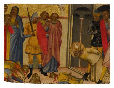 View 1. Thumbnail of Lot 8. The Martyrdom of Saint Blaise.