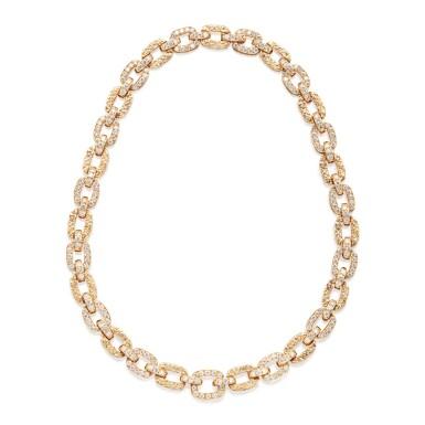 GOLD AND DIAMOND NECKLACE, VAN CLEEF & ARPELS