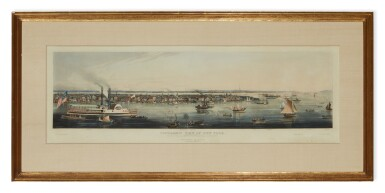 View 2. Thumbnail of Lot 498. Panoramic View of New York Taken from the North River.