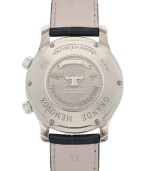 JAEGER-LECOULTRE | GRANDE MEMOVOX, REF 146.3.95 WHITE GOLD PERPETUAL CALENDAR WRISTWATCH WITH ALARM AND 24 HOUR INDICATION CIRCA 2001