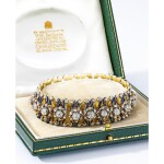 GARRARD & CO. | ANTIQUE DIAMOND AND ENAMEL BRACELET    Garrard & Co. | 古董 鑽石 配 琺瑯彩 手鏈