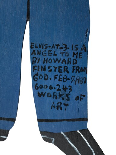 View 4. Thumbnail of Lot 1507. HOWARD FINSTER   ELVIS (OR ELVIS AT 3-15 A ANGEL TO ME).
