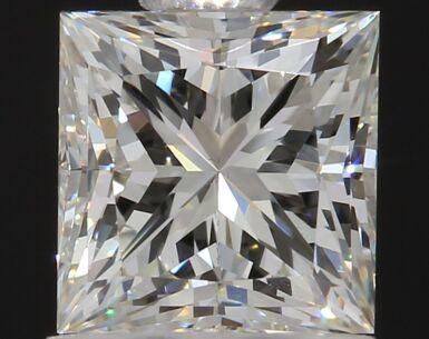 A 1.02 Carat Square Diamond, K Color, VVS2 Clarity