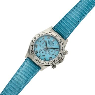 View 6. Thumbnail of Lot 4. Reference 116519 'Daytona Beach'  A white gold automatic chronograph wristwatch, Circa 2000.