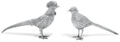 A PAIR OF ELIZABETH II IRISH SILVER GAME BIRDS, ROYAL IRISH SILVER LTD, DUBLIN, 1978