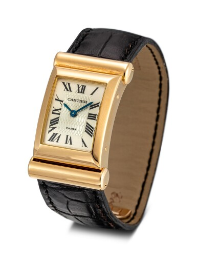 View 2. Thumbnail of Lot 611. CARTIER | PRIVEE DRIVERS A LIMITED EDITION YELLOW GOLD WRISTWATCH, CIRCA 1997.
