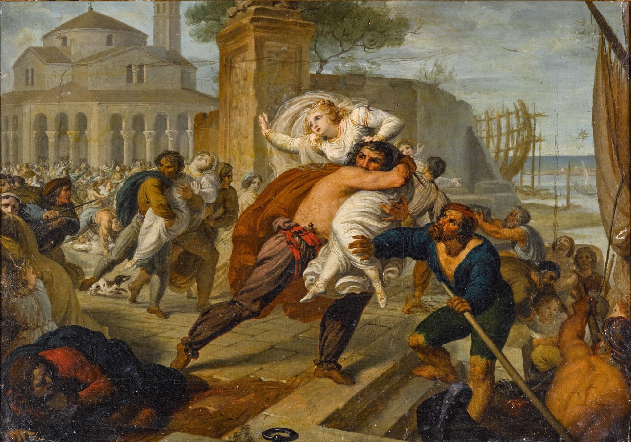 View 1 of Lot 179. The abduction of the Venetian wives.