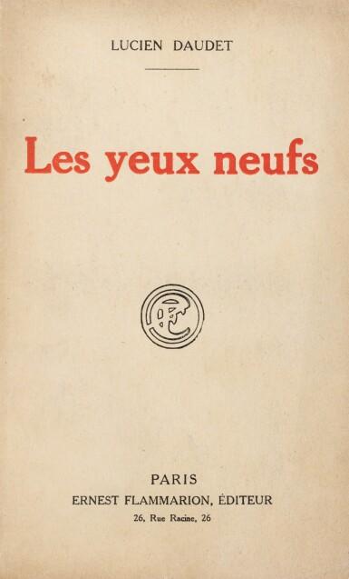 View 3. Thumbnail of Lot 300. Les Yeux neufs. 1921. 1/2 ex. connus avec envois de L. Daudet à Proust. Rel. Jean de Gonet.