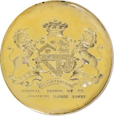 View 2. Thumbnail of Lot 139. ROYAL. A PAIR OF WILLIAM IV SILVER-GILT CLARET JUGS, ONE JOHN BRIDGE FOR RUNDELL, BRIDGE & RUNDELL, 1833, THE OTHER JOHN SPARKES TAPLEY FOR JOHN TAPLEY & CO., 1835, BOTH LONDON, RETAILED BY RUNDELL, BRIDGE & CO..