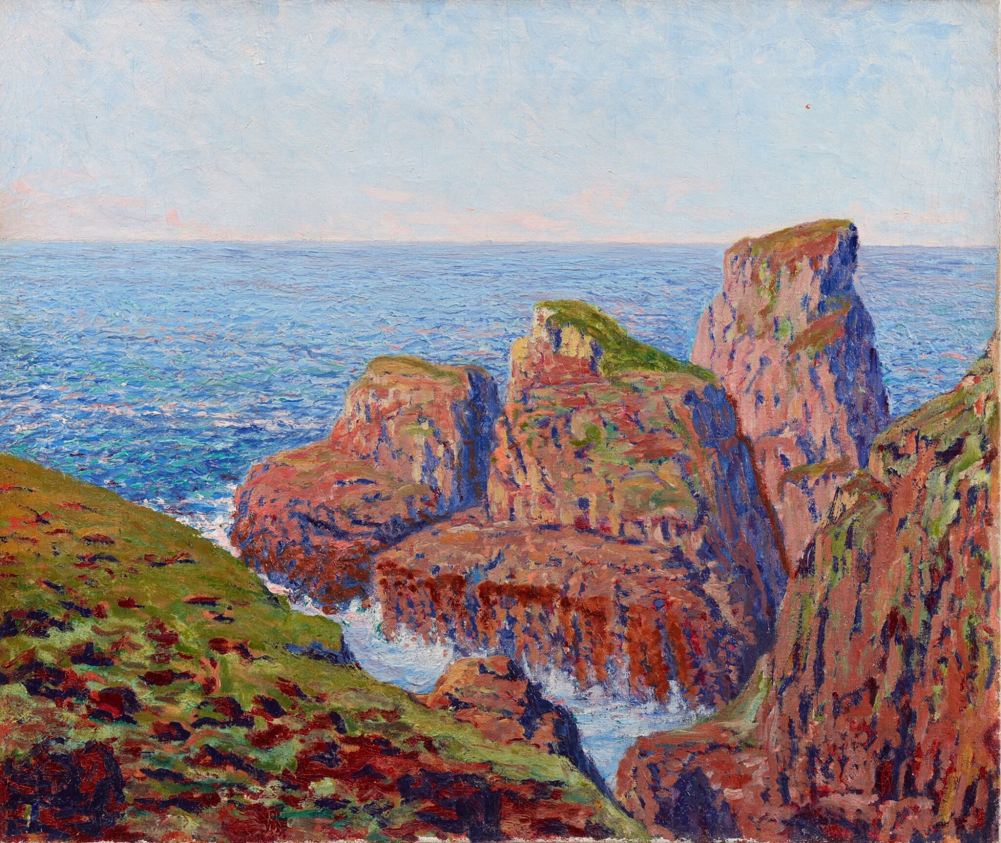 View full screen - View 1 of Lot 36. GUSTAVE CARIOT | CÔTE ROCHEUSE.