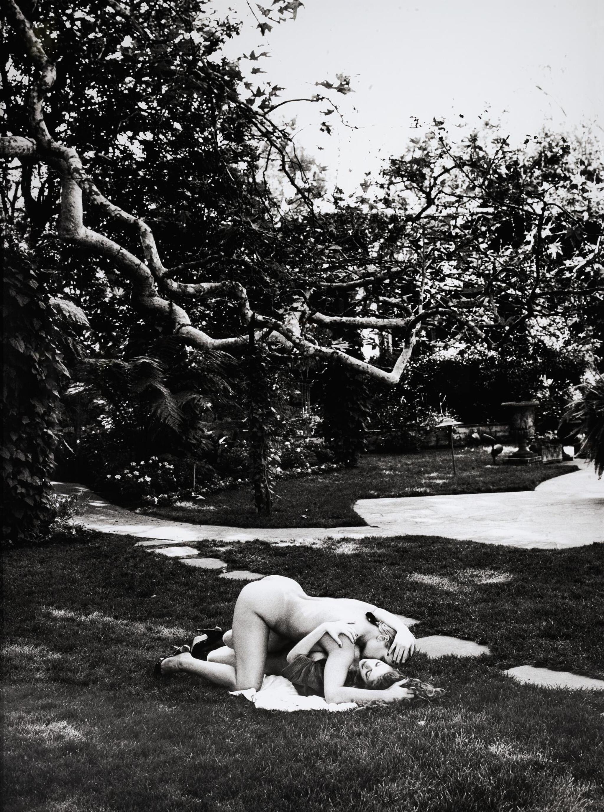 View full screen - View 1 of Lot 67. HELMUT NEWTON | 'DEBRA AND RED', EXTERIOR, BEVERLY HILLS, 1991 .