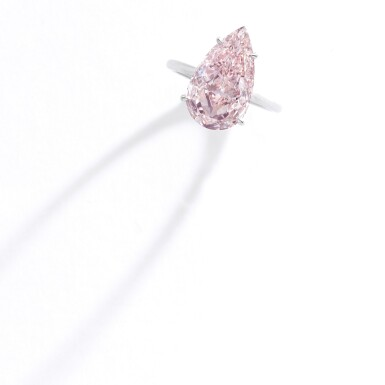 View 2. Thumbnail of Lot 321. IMPORTANT FANCY PINK DIAMOND RING.