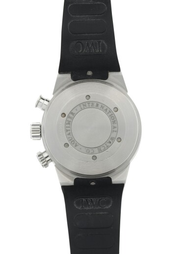 View 6. Thumbnail of Lot 87. IWC   REFERENCE 3719 AQUATIMER A STAINLESS STEEL AUTOMATIC CHRONOGRAPH WRISTWATCH WITH DAY AND DATE, CIRCA 2005.