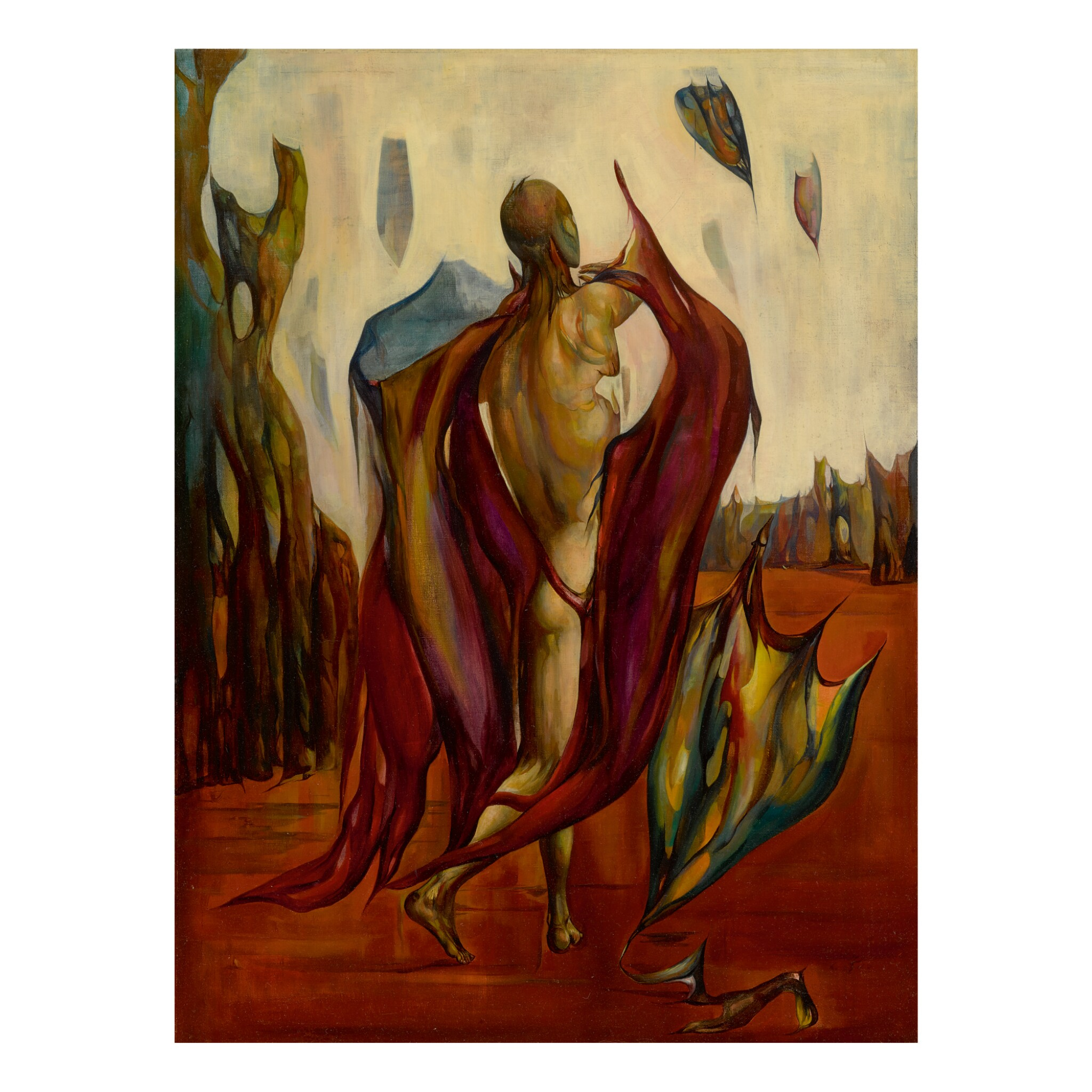 View full screen - View 1 of Lot 32. LEON KELLY | THE MESSENGER (MAN WITH KITES).