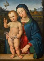 CIRCLE OF ANDREA DI ALOIGI DI APOLLONIO DA ASSISI, CALLED L'INGEGNO | Madonna and Child