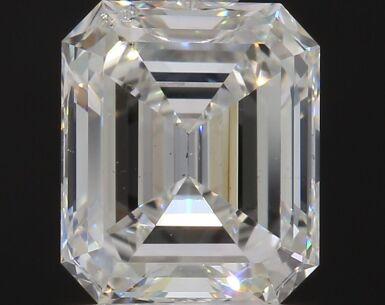 A 1.02 Carat Emerald-Cut Diamond, H Color, SI1 Clarity