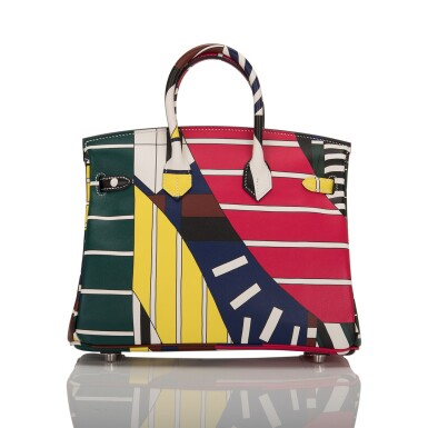 """View 4. Thumbnail of Lot 3. Hermès """"One Two Three and Away We Go"""" Limited Edition Birkin 25cm Palladium Hardware."""