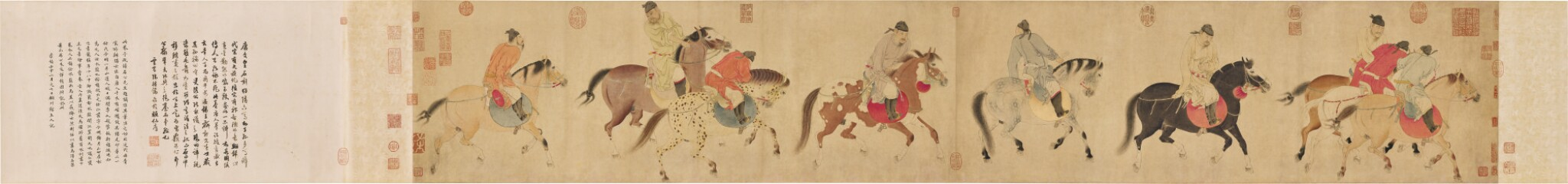 View full screen - View 1 of Lot 2575. REN RENFA 1255-1328 任仁發 | FIVE DRUNKEN PRINCES RETURNING ON HORSEBACK 五王醉歸圖.