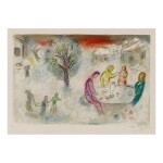 MARC CHAGALL | THE MEAL AT DRYAS'S HOUSE (M. 334; SEE C. BKS. 46)