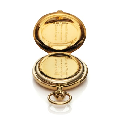 View 4. Thumbnail of Lot 98. Retailed By Spaulding & Co.: A yellow gold minute repeating hunting cased watch, Made in 1903.