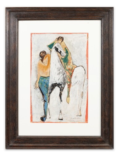 View 3. Thumbnail of Lot 9. Giocolieri e Cavallo (Jugglers and horse).
